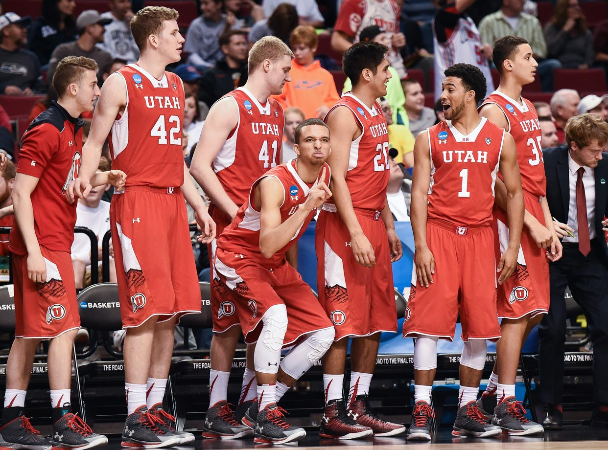 Rare is the team that gets a series of wins during the tournament better than any individual win it had in the regular season. That's exactly what Utah would have to do to win the national championship. This team has been better than expected all season long, but its season ends against Duke in the Sweet 16. (Text credit: Michael Beller)