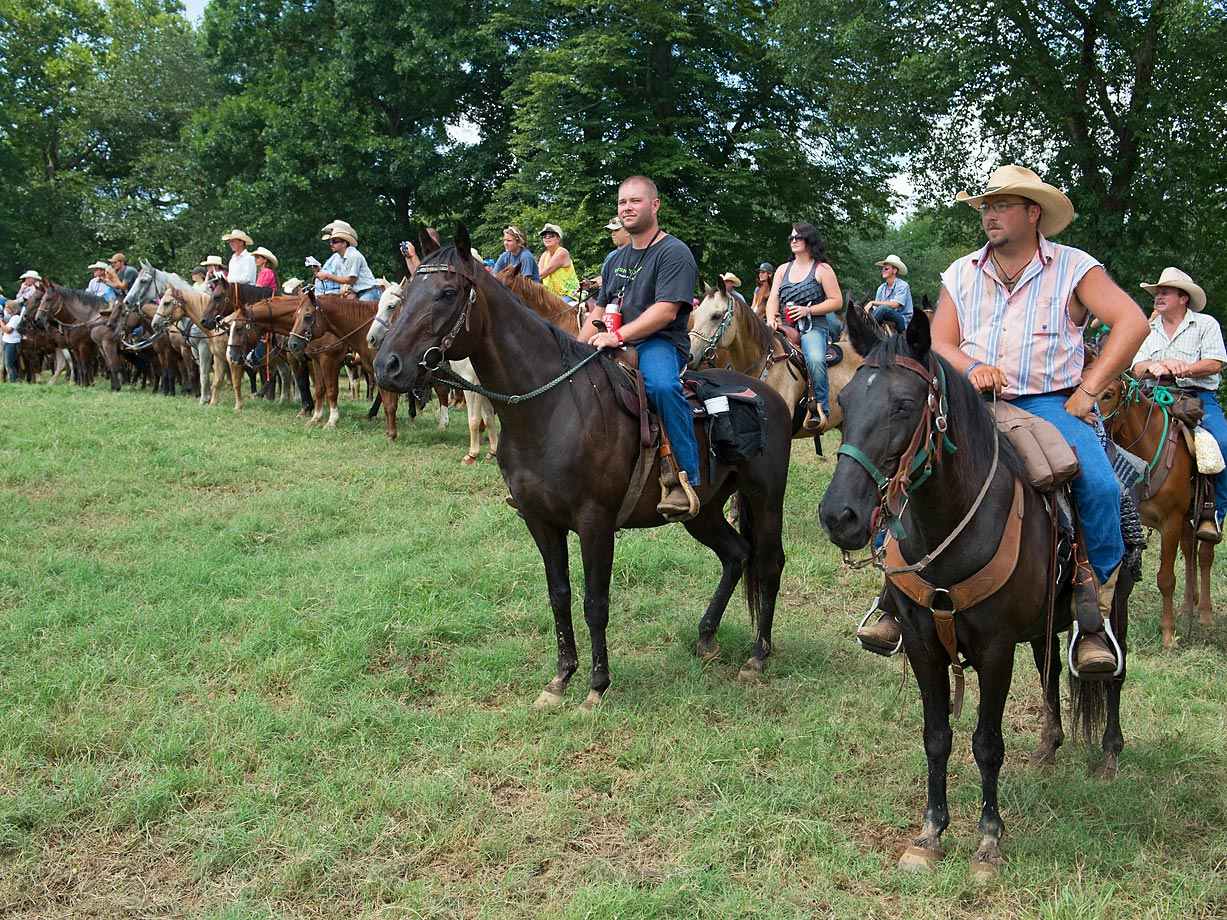 The National Chuckwagon Race Championship is one of the largest equestrian events in the Country. Over 5,000 horses, mules and ponies were at the event this year. This provided trackside seating for many of spectators.