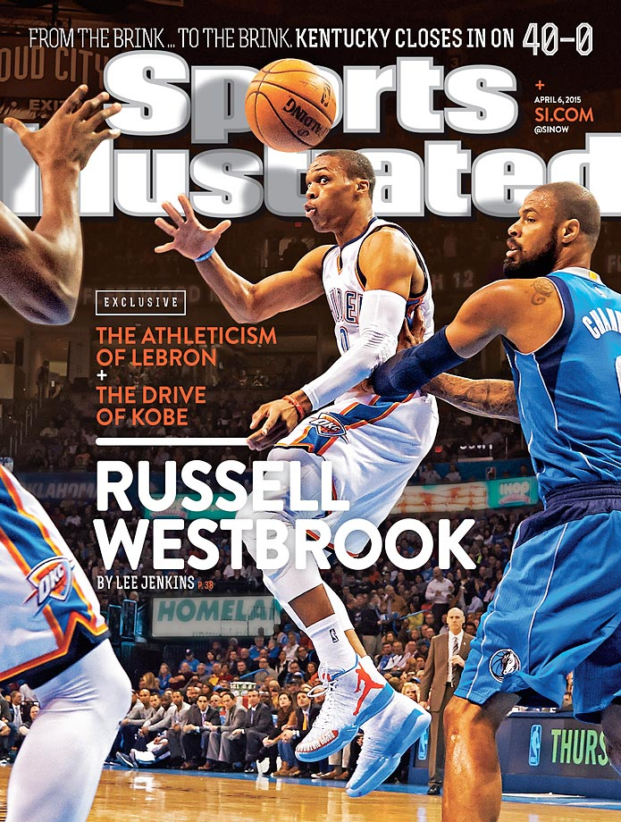 April 6, 2015 | Russell Westbrook, Oklahoma City's dynamic guard, is putting up video game-type numbers this season, as the Thunder push toward a playoff berth without injured starters Kevin Durant and Serge Ibaka.
