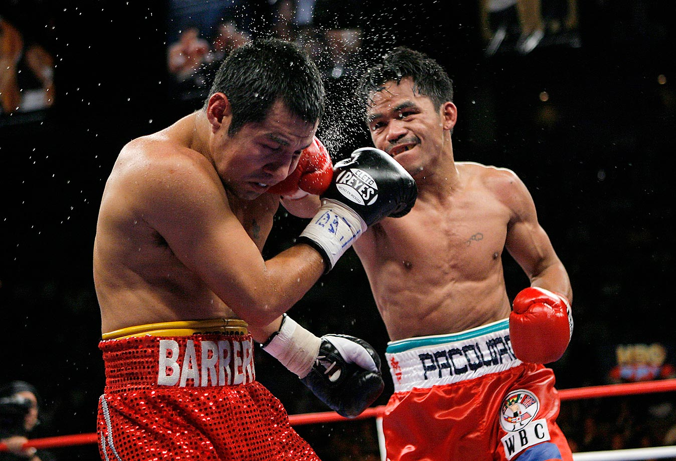 In the long-awaited rematch with Barrera at super featherweight, Pacquaio won a lopsided unanimous decision at the Mandalay Bay in Las Vegas.