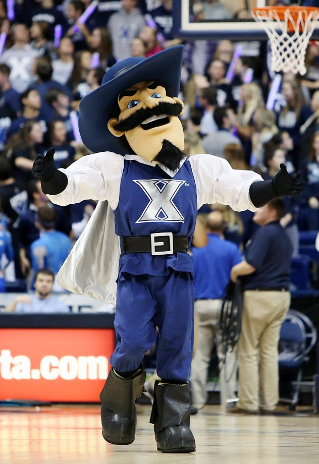 Xavier has two mascots, D'Artagnan and the Blue Blob, but we're ranking the former of the two, mostly because D'Artagnan is significantly superior. With a well-crafted costume, one that includes a meaty hat and luscious goatee, he is among the best mascots in the game, and No. 2 in this listing. His facial expression is spot-on while his build is adequately imposing but not over-the-top. (Text credit: Andrew S. Doughty/NextImpuseSports.com)