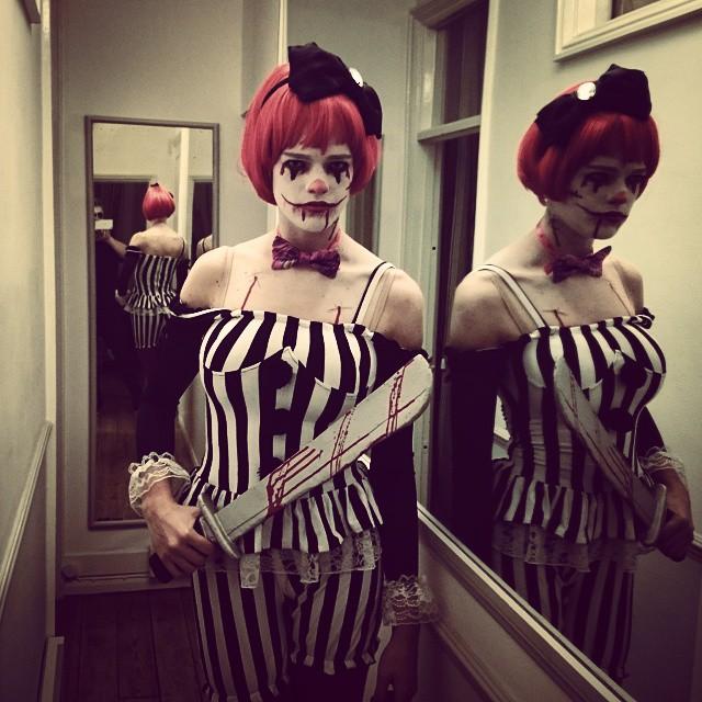 Killer clown is in town! #hallowzeem #halloween #killerclown #clownmakeup #clown