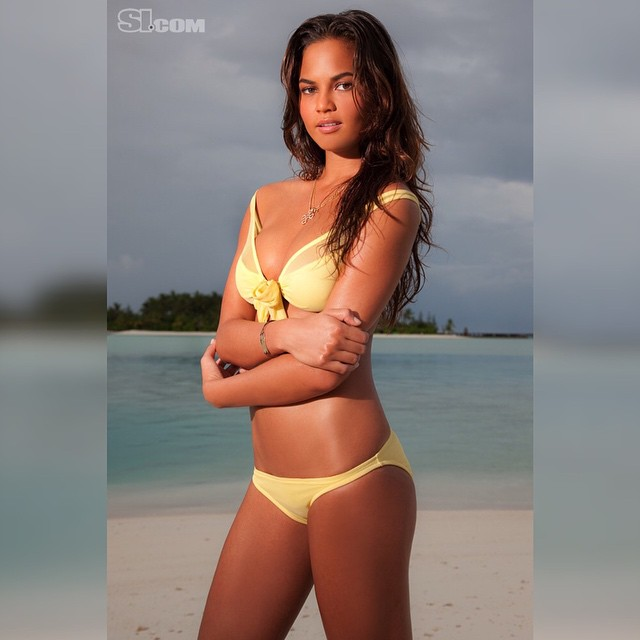 @chrissyteigen was the 2010 Rookie of the Year and a 2014 Cover Model! So here she is in 2010 shot by the legend @walteriooss in the Maldives! #siswim #fbf