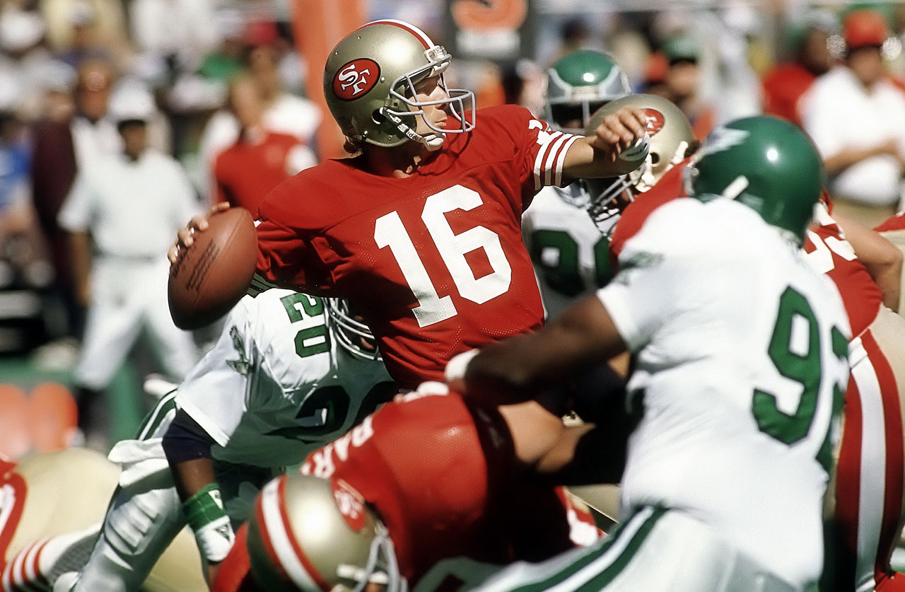 Still the choice for many when asked to pick football's greatest quarterback. Montana was as clutch as they get—he was named Super Bowl MVP in three of the 49ers' four title wins under his leadership. The Hall of Fame added Montana in 2000.
