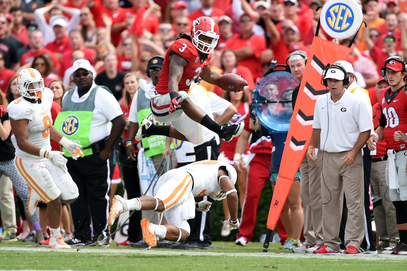 Gurley made a habit of terrorizing SEC defenses, but the uncertainty surrounding his ACL injury is impossible to avoid.