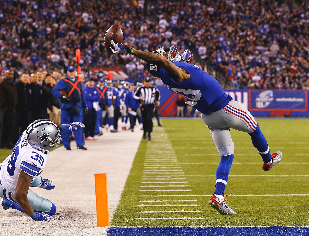 Few players can come straight out of college and absolutely destroy the NFL. Apparently, Odell Beckham Jr. has that rare ability. The Giants' 2014 first-round selection missed the first four games with hamstring issues, and then proceeded to amass 91 receptions for 1,305 yards and 12 touchdowns. Honorable mention: Jason Pierre-Paul, Eli Manning.