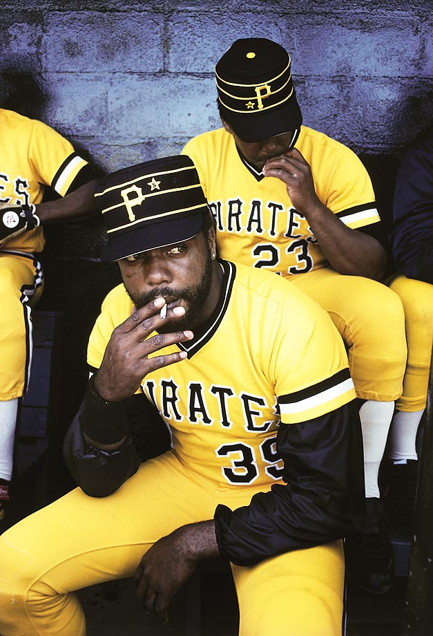 Once the highest paid player in baseball, Dave Parker got pretty much anything he wanted from the Pittsburgh Pirates. That included the right to smoke in the dugout, as he does here in this 1980 photo.