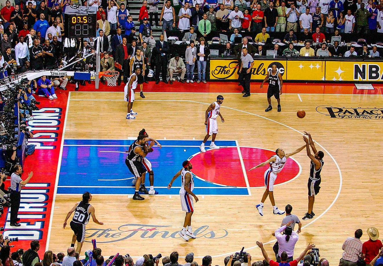 "Robert Horry, better known as ""Big Shot Rob,"" buries the three to win Game 5 for San Antonio."