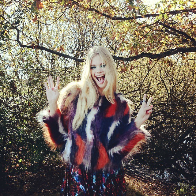Having fun at today's shoot in the woods! #fashion