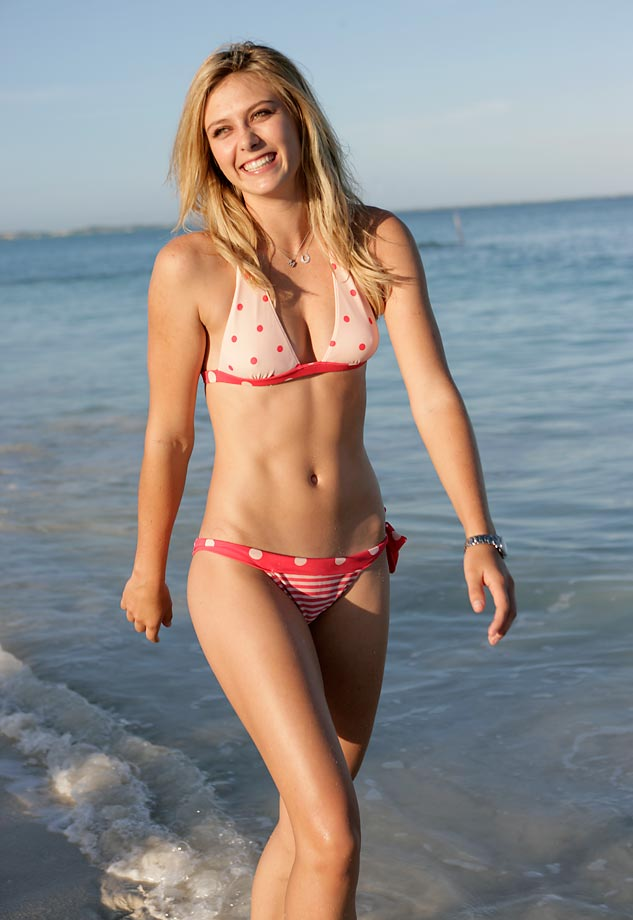Sharapova traipses through the surf during her photo shoot for the Sports Illustrated Swimsuit Issue. She was the only athlete to pose for the 2006 Swimsuit Issue.