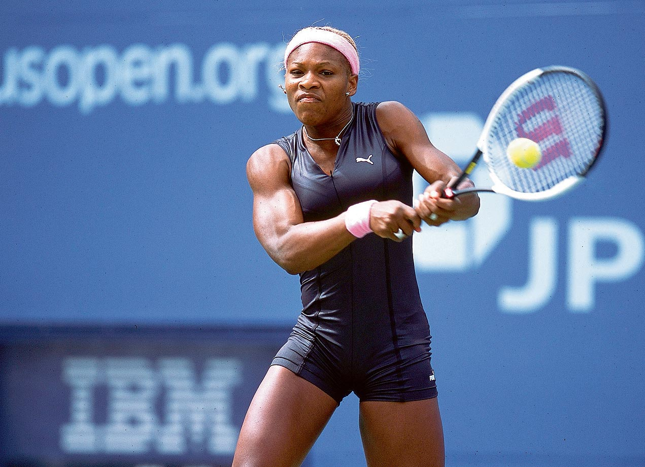 Serena created a stir when she competed in this cat suit at the 2002 U.S. Open.