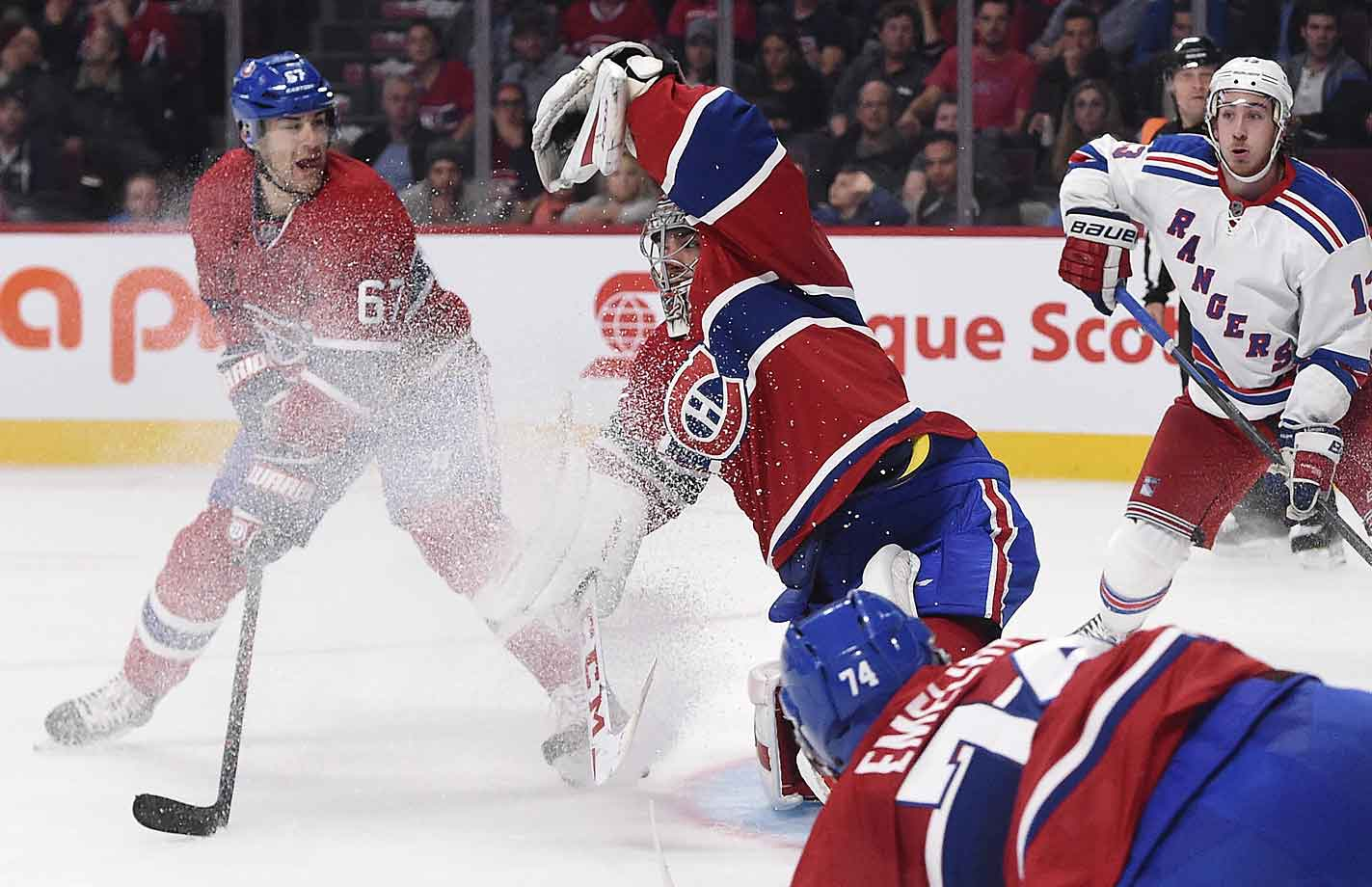 Save and a beauty. As October drew to a close, the Canadiens and their keeper were off to an 8-2-0 start that was tied with the Ducks for the league's best record.