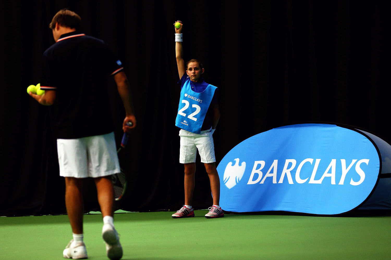 The Final 30 Barclays Ball kids in action during the Barclays Ball Kids Training Day at the The Warwickshire Health & Racquets Club on September 8, 2013 in Coventry, England.