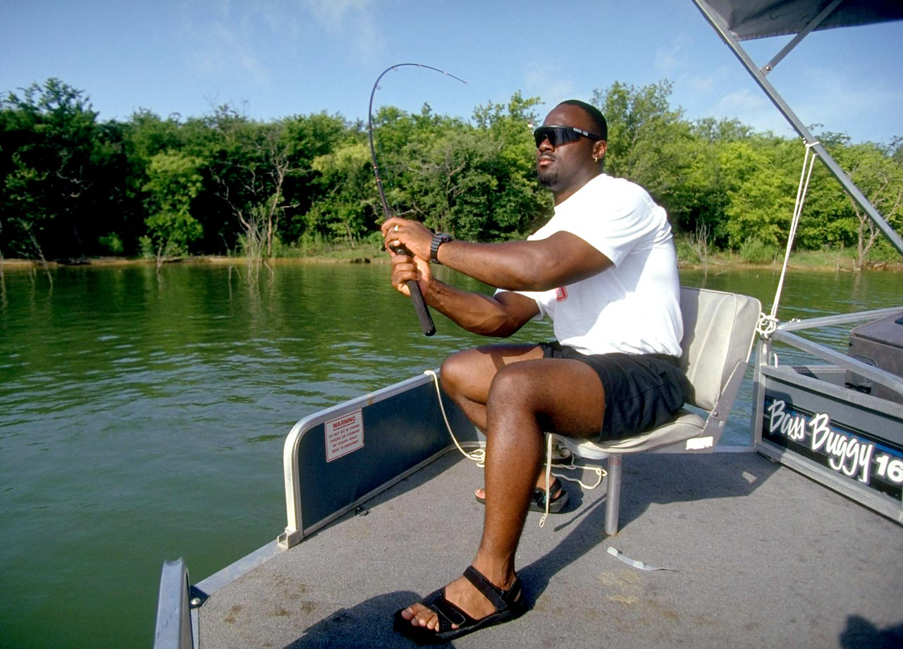 In the summer after his best professional season, Steelers' running back Barry Foster, then 24, fishes near Grand Prairie, Texas. Foster had earned a trip to the Pro Bowl in 1992 after rushing for 1,690 yards and 11 touchdowns.