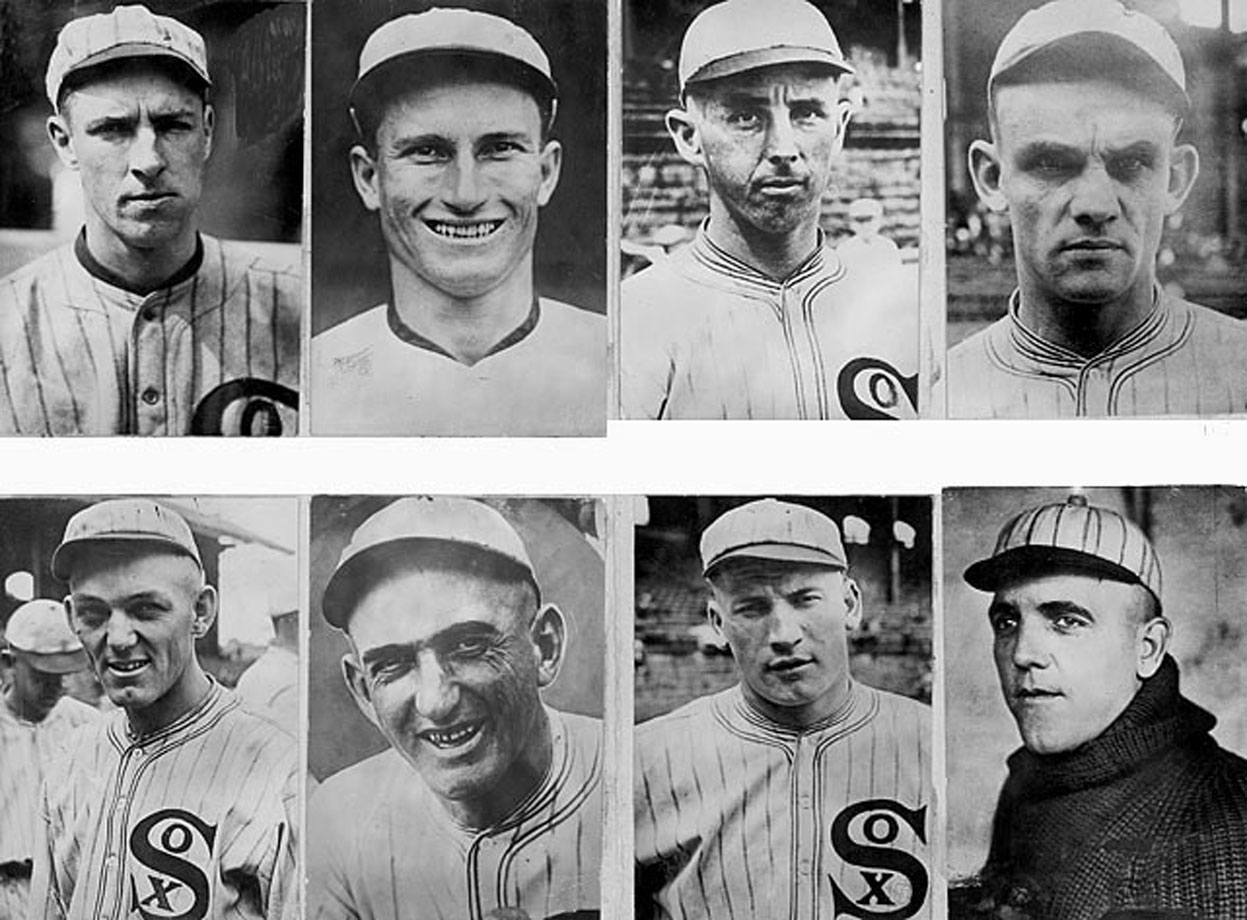 Early baseball was ripe with gambling scandals as a number of players were banned for allegedly throwing games. But it all came to a head in 1921, when MLB banned eight members of the 1919 Chicago White Sox World Series team. Known as the Black Sox Scandal, these eight players were accused of conspiring to throw the World Series, which they lost to the NL champion Cincinnati Reds. 'Shoeless' Joe Jackson (bottom row, 2nd from left) came to most notoriety for the his involvement in the scandal thanks in large part to a mythical account of his interaction with a young fan. Although now part of baseball lore, Jackson denied any truth to the accounts stating that a little boy pleaded with him to say the charges against him weren't true as he left a courthouse only to be rebuffed by Jackson's sad admittance.