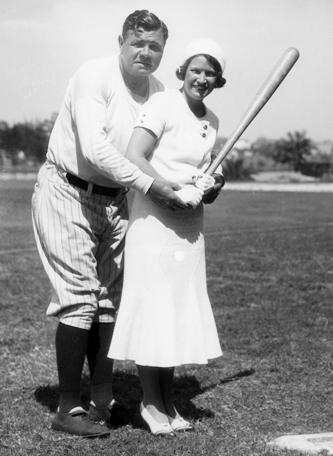 Babe Ruth and his wife Claire pose in 1931 during spring training in St. Petersburg, Fla.