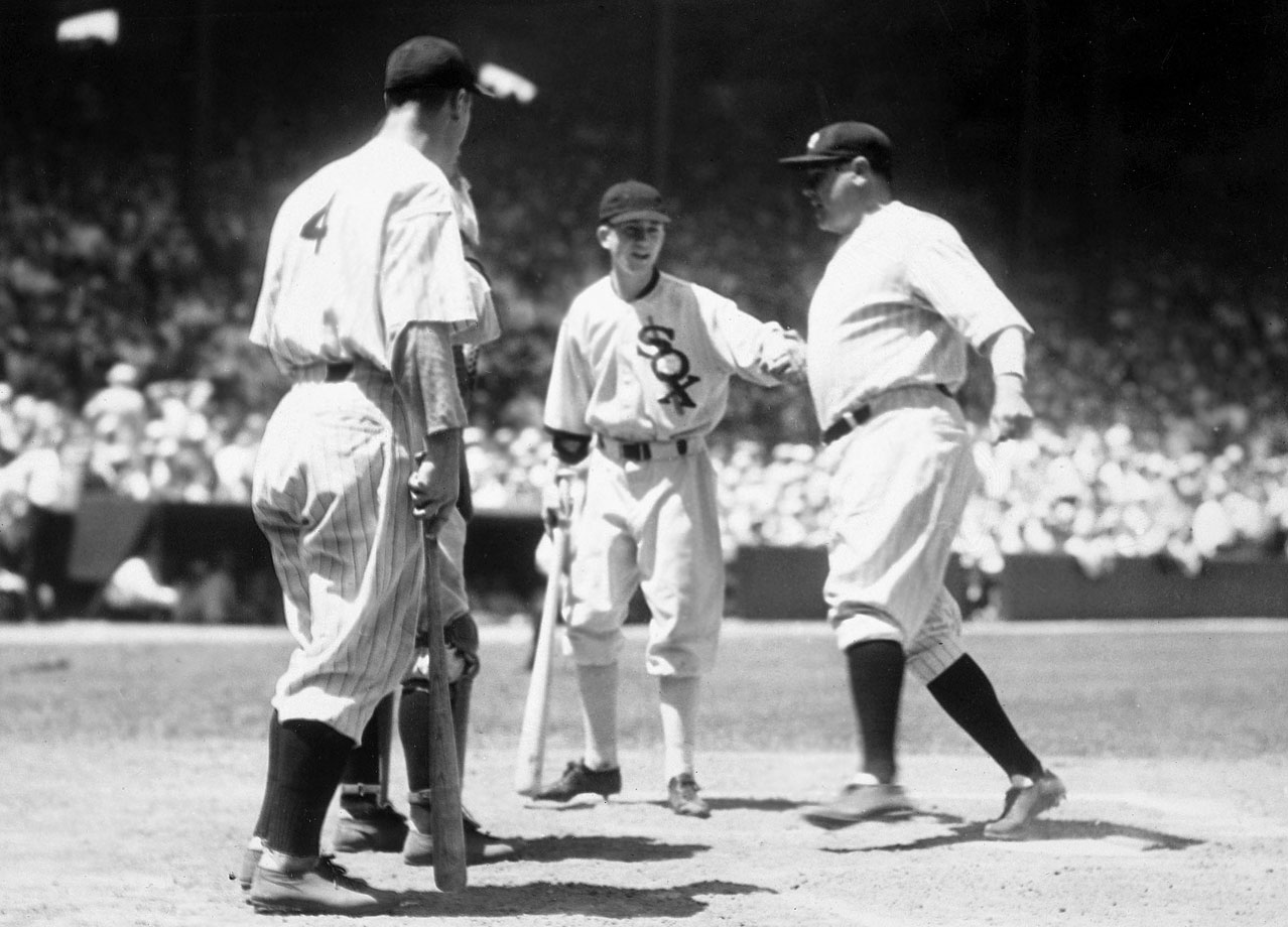 At 38 years old, Babe Ruth hit the first home run in All-Star Game history, a two-run shot off the Cardinals' Bill Hallahan in the third inning that made the difference in the AL's 4-2 victory.