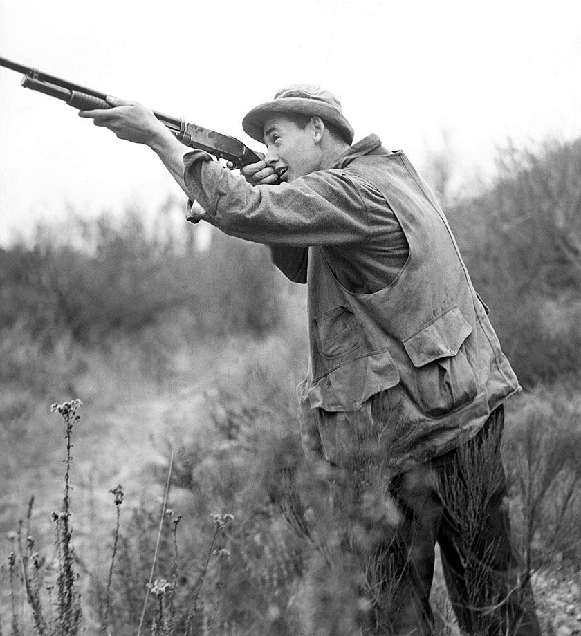 Ted Williams takes a hunting trip at age 20 in 1939.