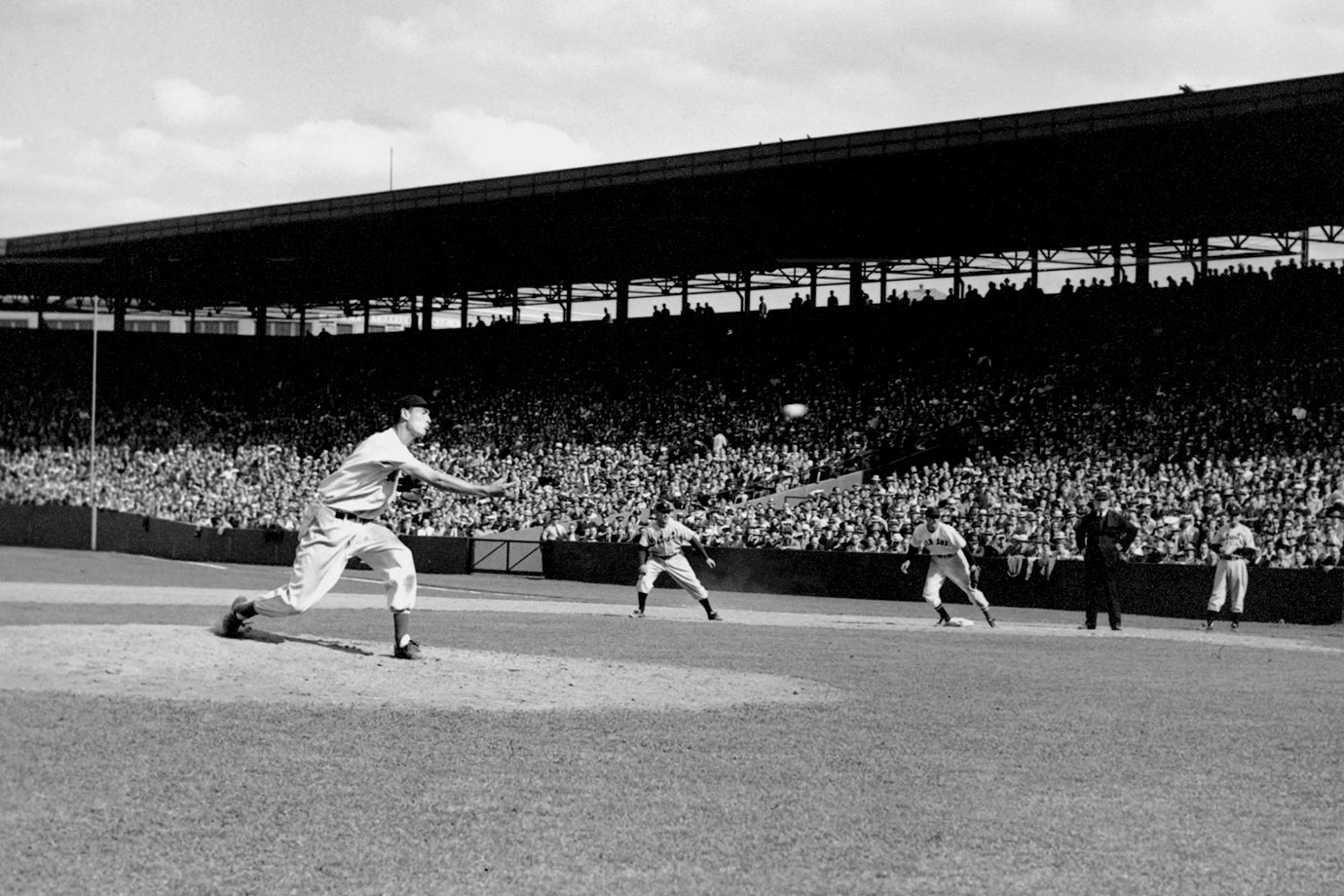 "With the Red Sox down 11-1 to the Tigers, Ted Williams took the mound for the final two innings, allowing one run on three hits in a 12-1 loss at Fenway Park. ""The Greatest Hitter Who Ever Lived"" proved to be a serviceable pitcher."