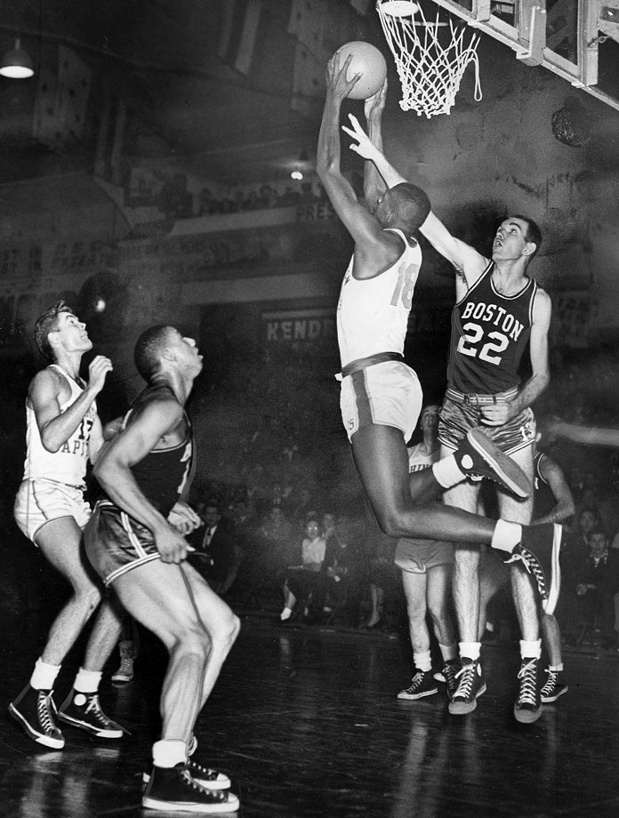 Earl Lloyd made his NBA debut on Oct. 31, 1950, as a member of the Washington Capitols. He was one of four African American players to play in the league that season. However his team disbanded after seven games.