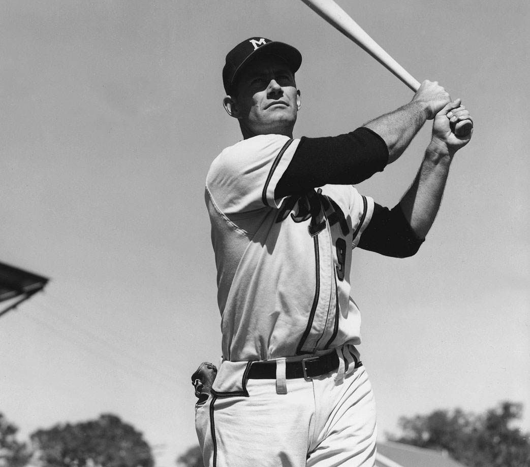 Adcock's 5-for-5 day went homer-double-homer-homer-homer in the Milwaukee Braves' 15-7 win over the Brooklyn Dodgers. Don Newcombe was the opposing starter.