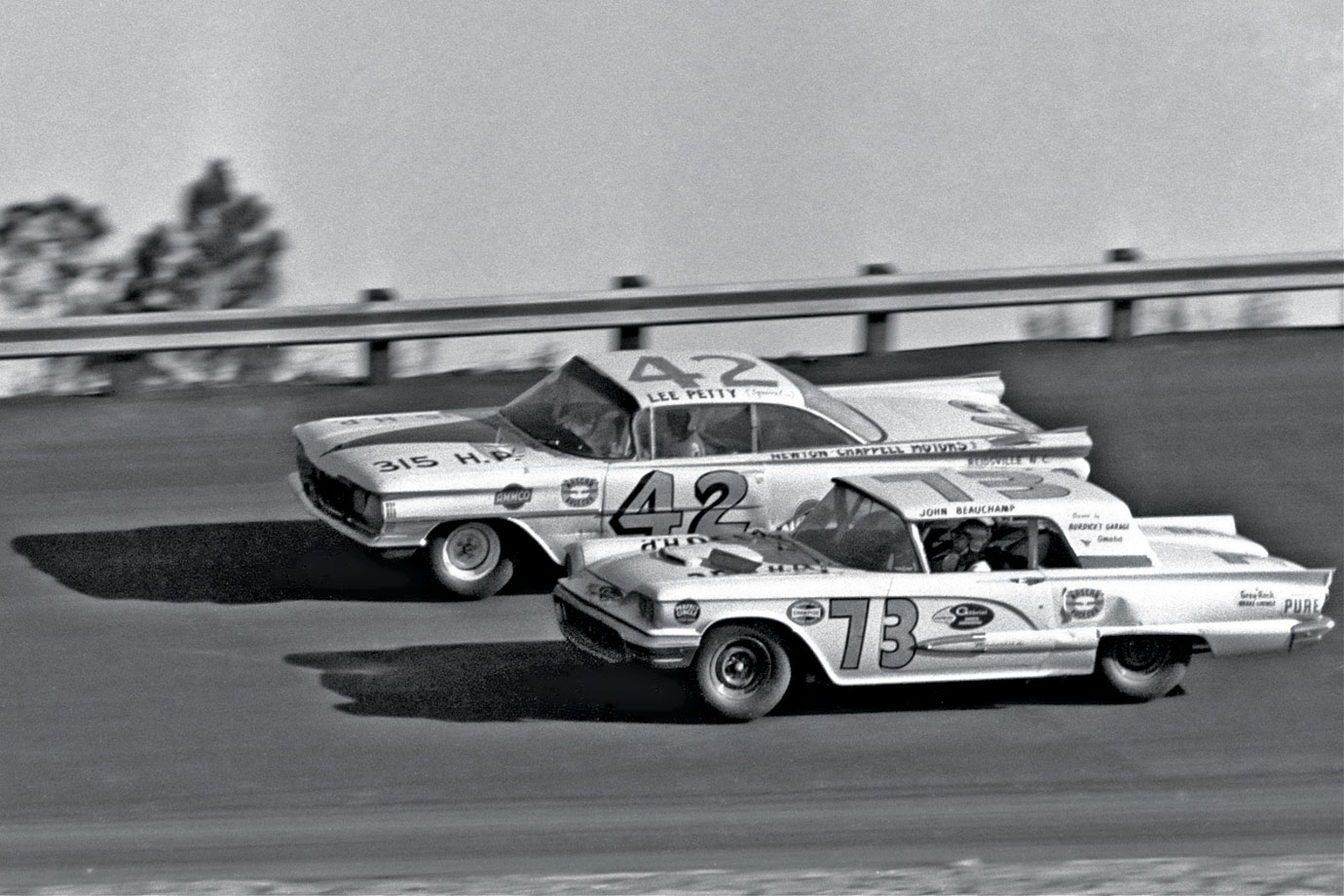 The first Daytona 500 set a high bar for drama. Lee Petty and Johnny Beauchamp battled to the finish line -- with the lapped Joe Weatherly above them -- in a race too close to call, although Beauchamp celebrated what he thought was a win. Days later, NASCAR officials discovered -- after viewing a still of just-developed news reel footage -- that Petty had actually nosed the finish line first and was declared the winner.