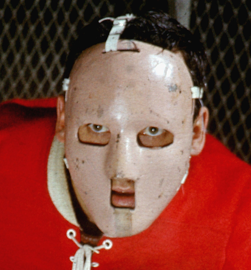 Jacques Plante's mask, which he first wore at New York's Madison Square Garden on Nov. 1, 1959, was a simple fiberglass deal that merely hinted at the often ghoulishly elaborate ones to come. Plante, by the way, was not the first netminder to wear a mask -- Clint Benedict of the Montreal Maroons donned a leather-and-wire variation for a game in 1930 to protect his broken nose and cheekbone -- but Plante was the one who popularized it.