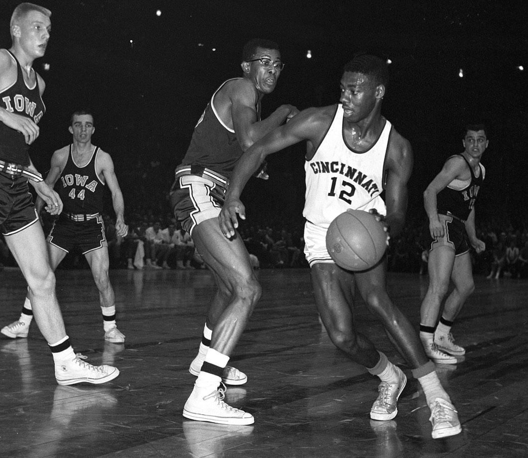 Oscar Robertson set 14 NCAA and 19 school records during his three seasons at Cincinnati, leading the Bearcats to a 79-9 overall record and two Final Four appearances.