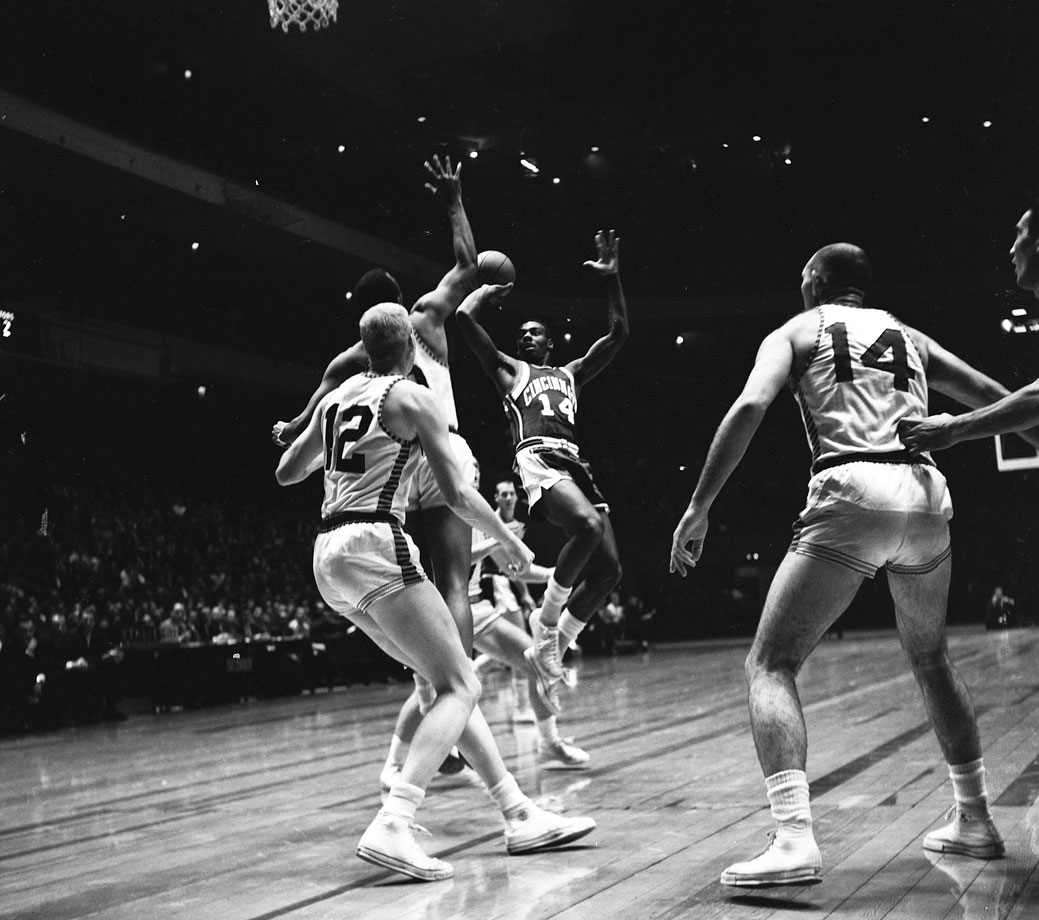Oscar Robertson spent his first 10 years in the league with the Cincinnati Royals and was named an All-Star every season.