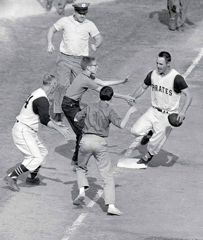 A wild series finale was capped by the first Series-winning home run in baseball history when Pittsburgh's Bill Mazeroski hit a solo homer off the Yankees' Ralph Terry leading off the bottom of the ninth. The Yankees outscored the Pirates 55-27 in the Series that year but lost the decisive final game 10-9.