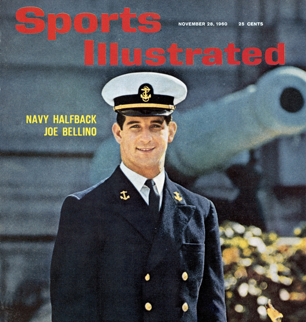 Navy's Joe Bellino on the Nov. 28, 1960 cover of Sports Illustrated.