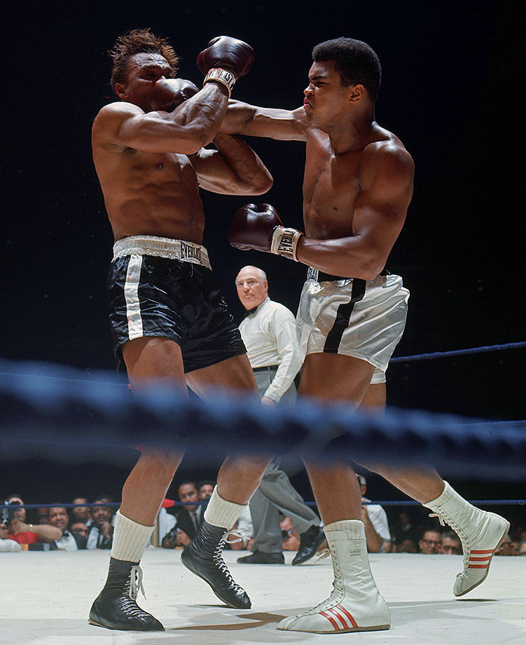 Capping off a five-fight campaign in 1966, Ali faced Cleveland Williams in the Houston Astrodome on Nov. 14. Known as the Big Cat, the heavily-muscled Williams was a power puncher who had racked up 51 knockouts in 71 fights. But he was also 33, barely recovered from a gunshot wound sustained the year before, and up against a young champion very much in his prime. Ali wasted little time in unleashing a withering attack.