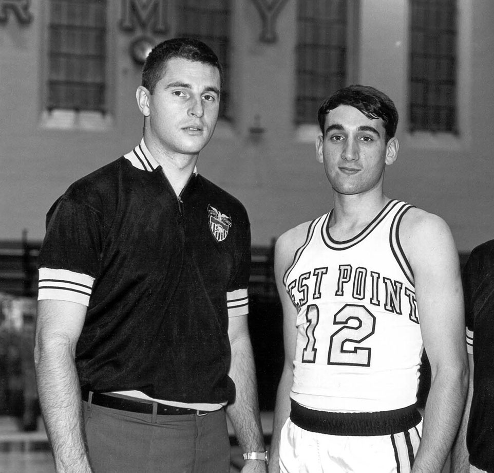 Before Mike Krzyzewski was coaching under Bobby Knight he was playing for him. Knight was the head coach at Army during Krzyzewski's collegiate career, which included a 1969 berth in the NIT.
