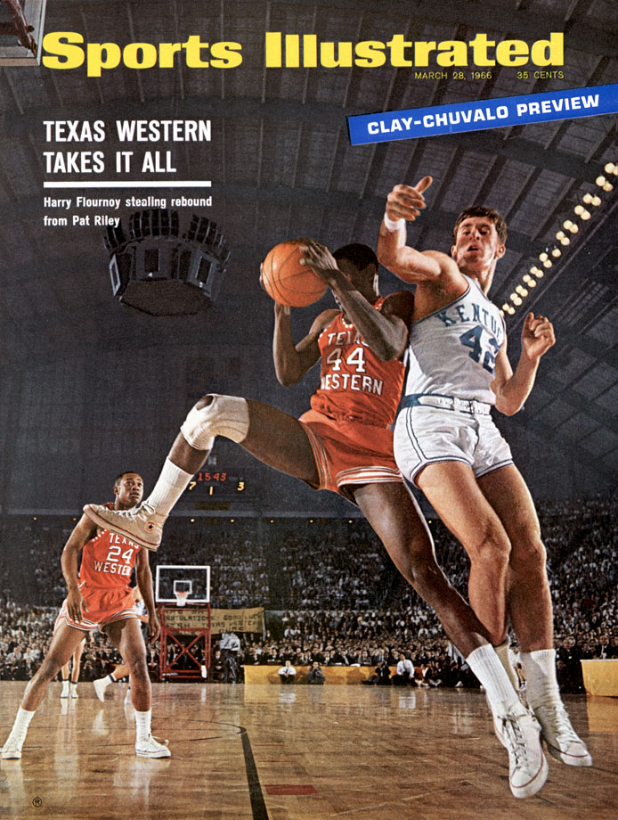 "Now immortalized in the movie ""Glory Road,"" Texas Western was the first team to have five African-American starters. The Miners, coached by Don Haskins, fought through a field of 22 teams to face Kentucky in the championship game, in which they upended the heavily favored, and all white, Wildcats, 72-65."
