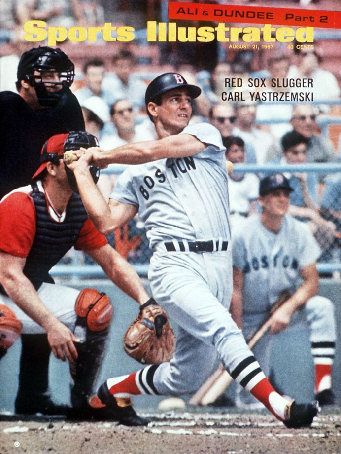 Carl Yastrzemski appears on the Aug. 21, 1967 cover of Sports Illustrated.