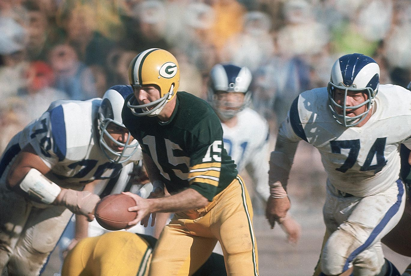 "It was considered fitting that the Chiefs and the Packers met in Super Bowl I—then known as the ""First AFL-NFL World Championship Game""—since Kansas City's owner, Lamar Hunt, founded the AFL, and the Packers were considered to be the best NFL team. (Text credit: Shannon Carroll)"