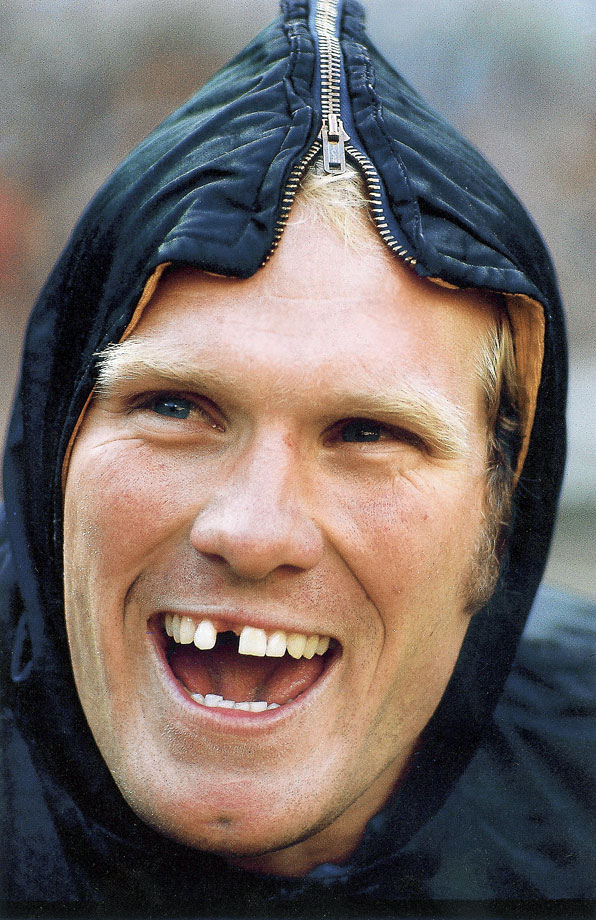 A toothless Terry Bradshaw was known less for his erratic throws (210 career interceptions across 14 seasons) and more for his ability to win in the clutch.