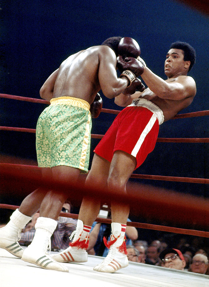 On the night of March 8, 1971, the eyes of the world were on a square patch of white canvas in the center of Madison Square Garden. There, Ali and Joe Frazier met in what was billed at the time simply as The Fight, but has come to be known, justifiably, as the Fight of the Century. For 15 rounds the two undefeated heavyweights battled at a furious pace, with each man sustaining tremendous punishment. In the end Frazier prevailed, dropping Ali in the final round with a tremendous left hook to seal a unanimous decision and hand The Greatest his first loss in 32 professional fights.