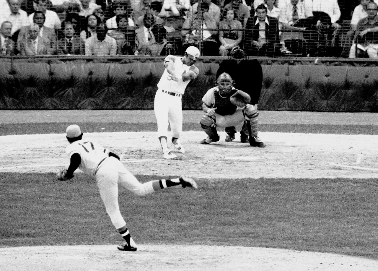 Reggie Jackson's pinch hit two-run homer that hit the light tower of Tiger Stadium in Detroit is believed to be one of the longest home runs ever hit, estimated at over 530 feet.