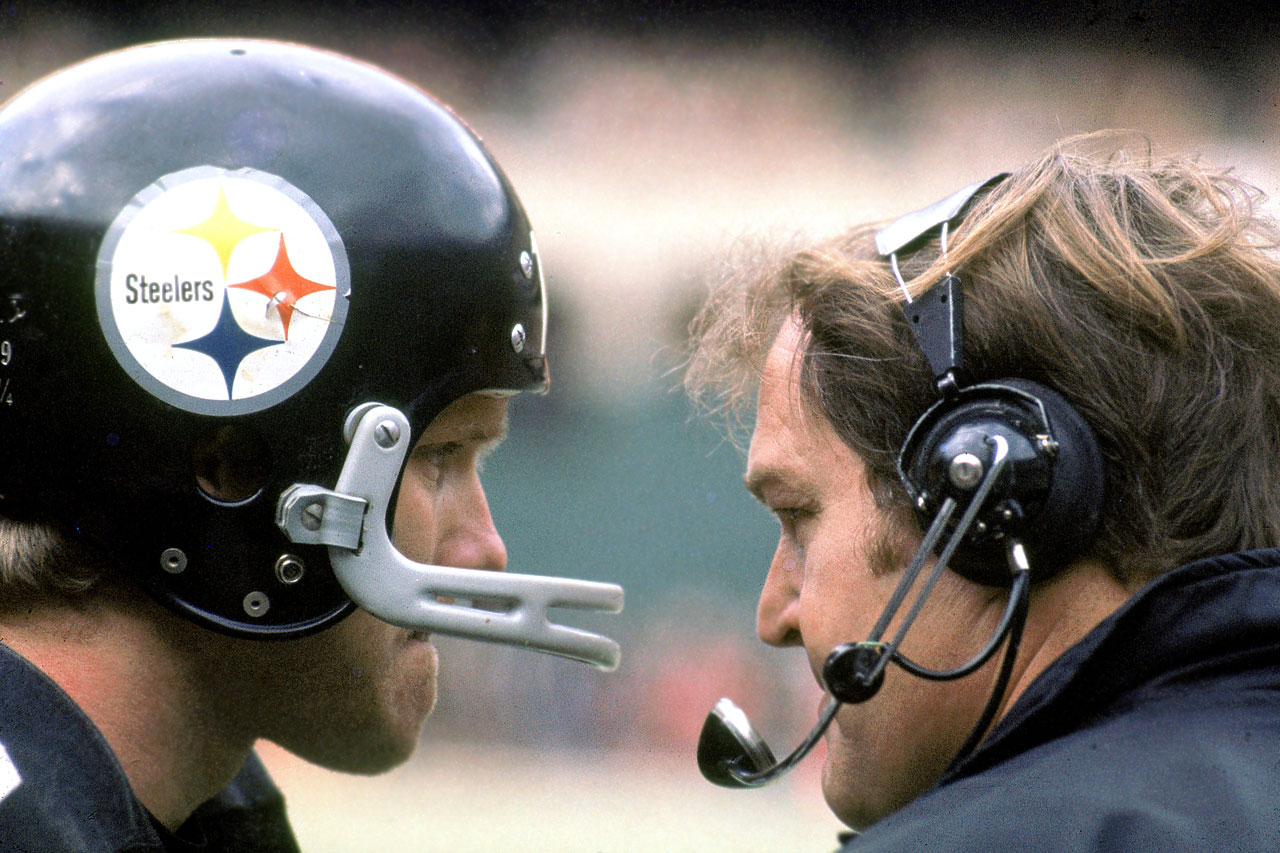 Chuck Noll was Terry Bradshaw's only head coach during his 14-year-career.