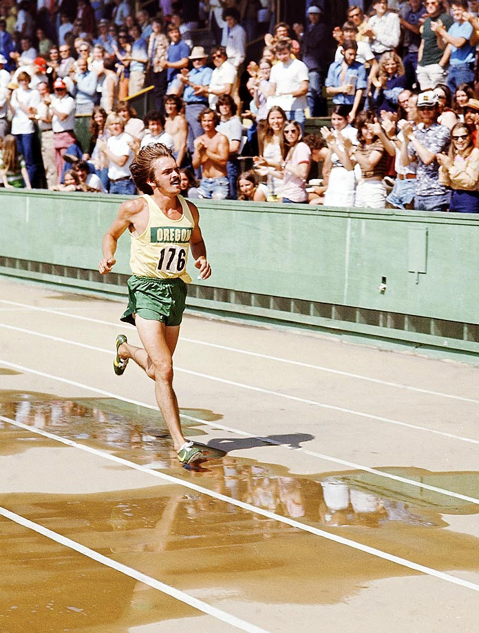Steve Prefontaine at the Pacific Eight meet in 1973.