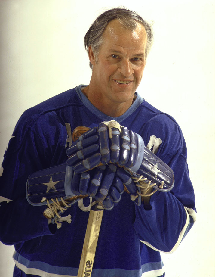 At age 45, Gordie Howe scored 100 points for just the second time in his career, during the 1973-74 season.