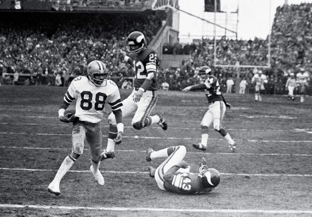 "Roger Staubach was a religious man, so when his heave downfield with 32 seconds left found Drew Pearson for a 37-yard touchdown that won the game for Dallas, the quarterback described the play this way: ""I closed my eyes and said a Hail Mary."" Thus was born the common term for game-ending desperation passes."