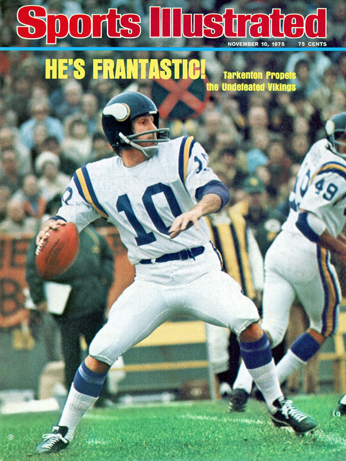 During Fran Tarkenton's MVP-winning season, the Vikings got off to a 10-0 start that might have extended to 11 if not for a missed conversion kick during a 31-30 loss to the Redskins.