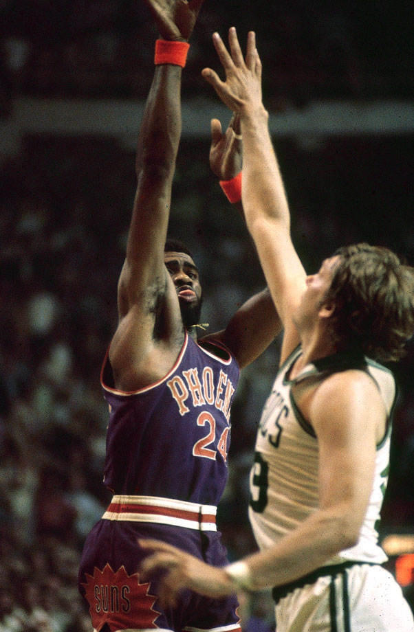 Suns forward Gar Heard nailed a turnaround 22-footer at the buzzer to force a third overtime. Heard's improbable shot helped put the Celtics' 128-126 victory in the conversation of the greatest games in NBA history.