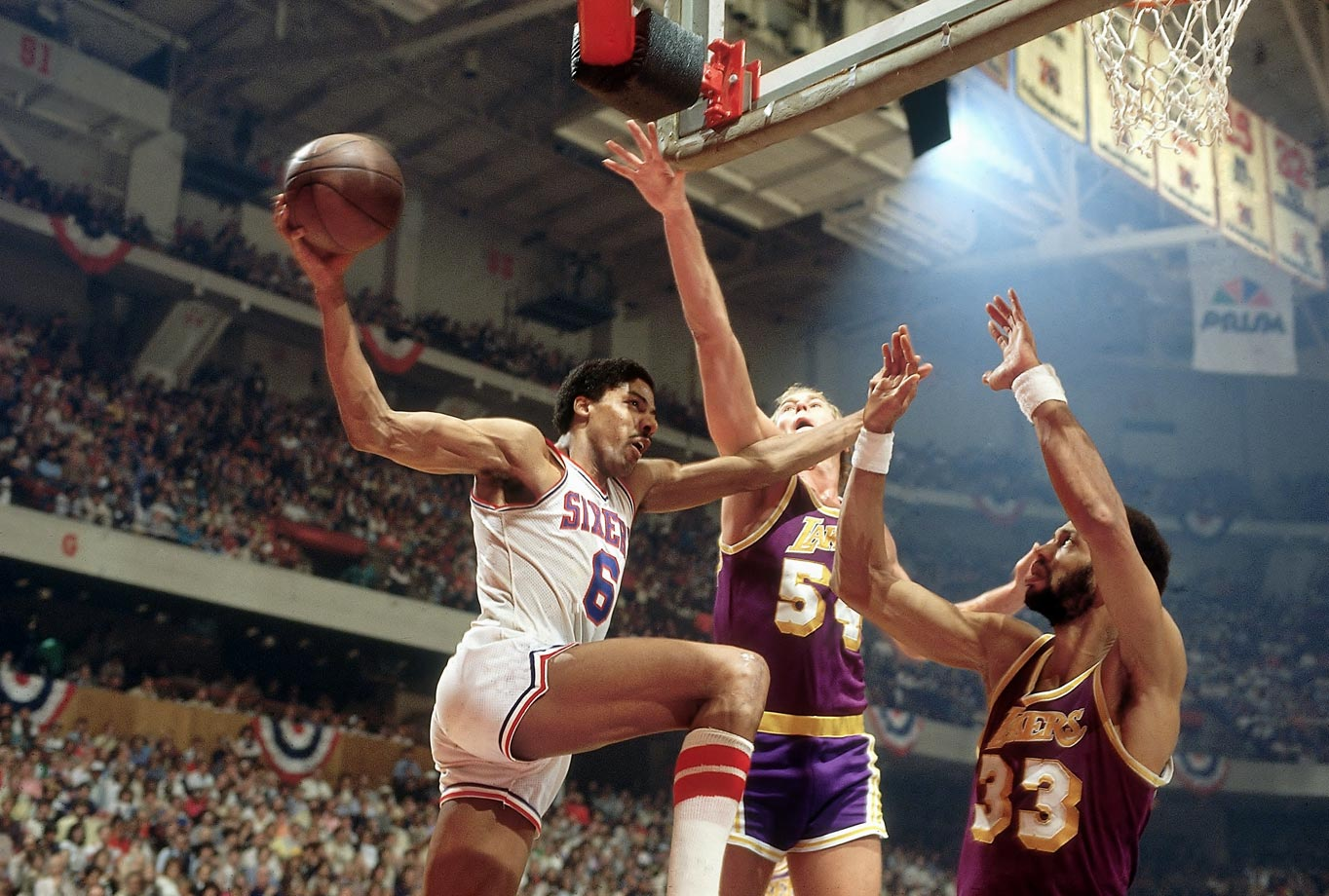 Dr. J's out-of-this-world reverse layup against the Lakers is still hailed by Magic Johnson as the greatest play he's ever seen.