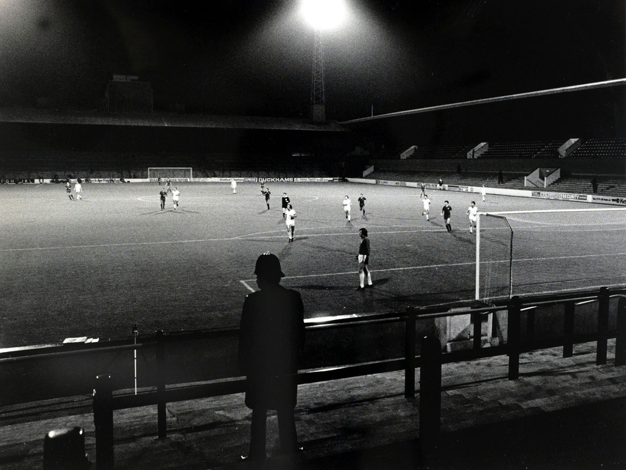 After rioting by fans in the first leg against Castilla in Madrid, West Ham United were forced to play the second leg at Upton Park to an empty stadium.