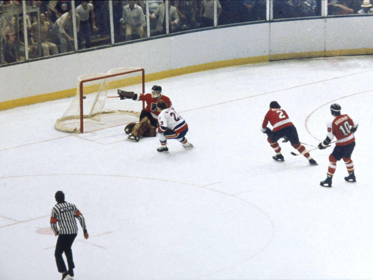 A dynasty was born when Islanders winger Bob Nystrom cashed in a feed from linemate John Tonelli and beat goalie Pete Peeters to finish off the Philadelphia Flyers, 5-4, in overtime of Game 6 at Nassau Coliseum. The Isles' Cup was the first of their four consecutive championships.