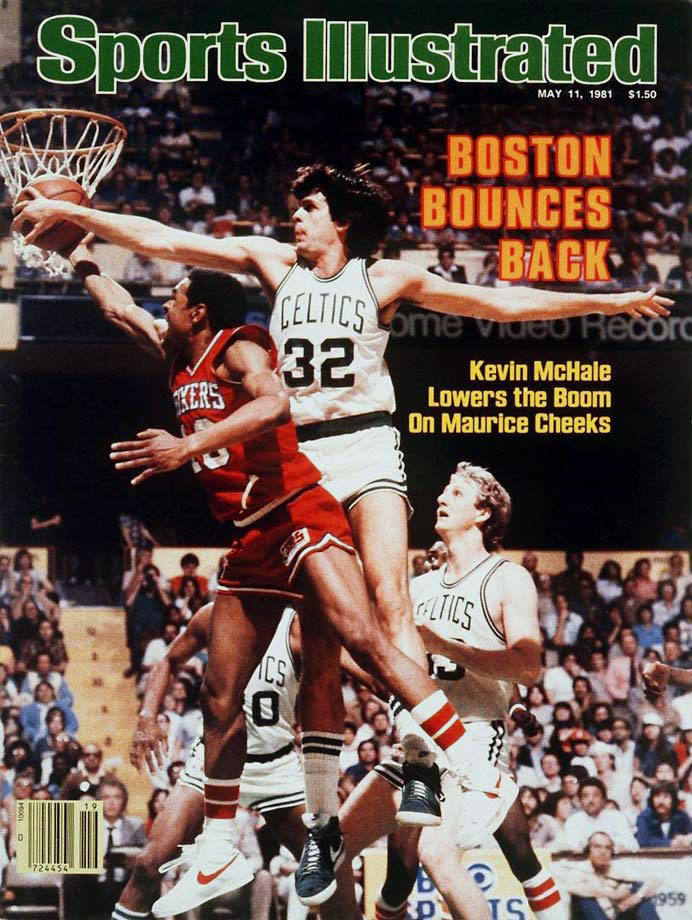 A tight series between two 62-win teams fittingly went down to the wire. Larry Bird hit a go-ahead bank shot in the final minute as the Celtics rallied from a six-point deficit in the final 4:30 to beat Philadelphia 91-90 in Game 7.