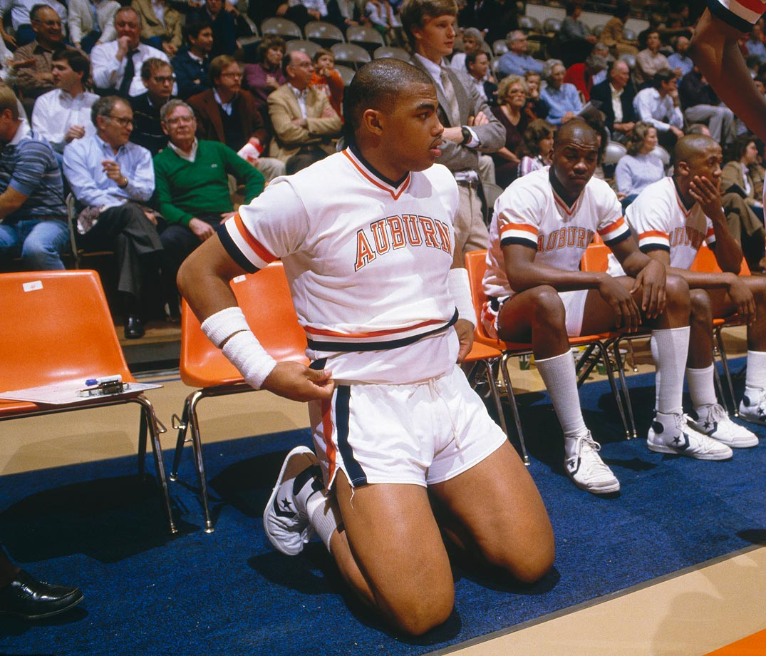 During Charles  Barkley's three years at Auburn, he averaged 15 points, 9.6 rebounds, 1.6 assists and 1.7 blocks per game. The school retired Barkley's No. 34 jersey in 2001.